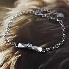 silver tag bracelet images Coise couple bracelets faceted tag chain bracelet for women 925 jpg
