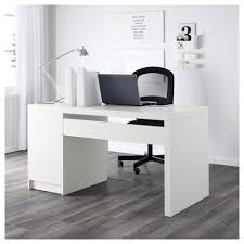 White Computer Desk Malm Desk Black Brown Ikea
