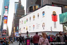 square android takes times square with android advertisement