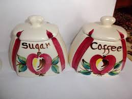 purinton vintage slip ware apple canister set farmhouse country roll over large image to magnify click large image to zoom