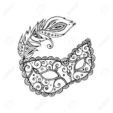 black and white mardi gras masks black beautiful ornate carnival mardi gras mask vector