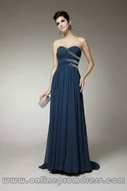 sweetheart handmade beaded a line chiffon blue prom dresses on