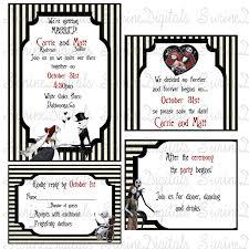 nightmare before christmas wedding invitation set jack and sally