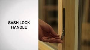 sliding glass door foot lock identifying the components of your andersen casement window youtube