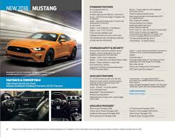 different mustang models 2018 ford mustang leaked brochure reveals features and