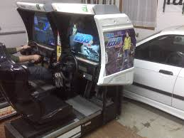 sit down arcade cabinet initial d v2 arcade sit down racing cabinets twin units