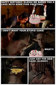 Walking Dead Birthday Meme - happy birthday glenn the walking dead failing dead