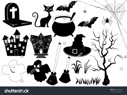 icon halloween black white stock vector 158556677 shutterstock