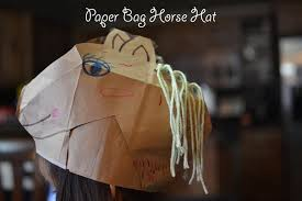 paper bag horse hat kids craft