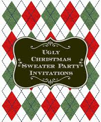Ugly Christmas Decorations - ugly christmas sweater party invitations unique christmas