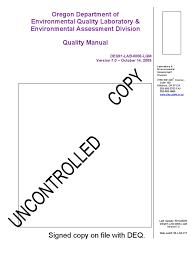 quality manual quality assurance environmental monitoring