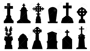 spooky cemetery clipart graveyard entrance silhouette clipart collection