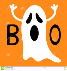 cute happy halloween background funny flying ghost boo text happy halloween greeting card cute