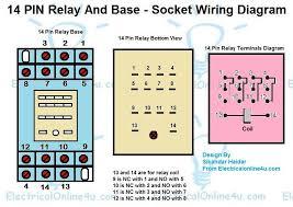 14 pin relay base wiring diagram finder 14 pin relay diagram