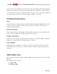 Profile For Resume Example by Market Demand And Supply Of Coke