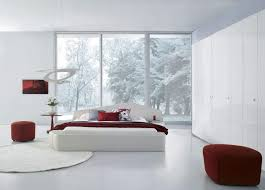 Stylish Modern White Leather Master Bedroom Furniture Suite - White leather contemporary bedroom furniture