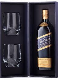 Grey Goose Gift Set Johnnie Walker Blue Label Scotch Gift Set W Two Glasses