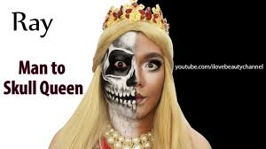 Man Woman Halloween Costume Skull Halloween Makeup Tutorial Man Woman