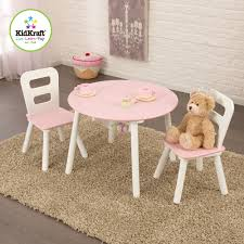 kidkraft round table and 2 chair set kidkraft round storage table and 2 chairs set white pink
