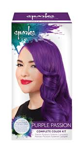 over the counter purple hair toner amazon com sparks long lasting bright hair color purple passion