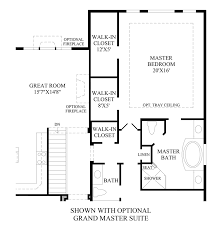 Master Suite Floor Plan Anthem Ranch By Toll Brothers The Broomfield Collection The