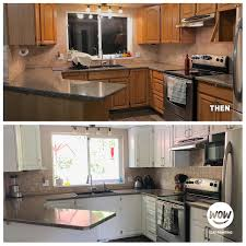 how to paint existing kitchen cabinets cabinet painting refinishing services wow 1 day painting