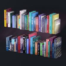 Bookcase With Books Bookshelf With Books And Decoration Objects 3d Model Max Obj Fbx Mtl