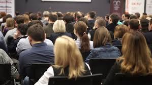 ufa russia 05 06 2016 ufa russia march 24 2016 women listen to the seminar or lecture