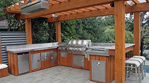 Outdoor Stainless Steel Kitchen - appliances outdoor kitchen flooring guide grill with sink and