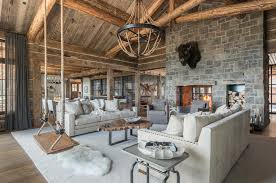 Lodge Interior Design by A Rustic Chic Family Hideaway In Big Sky Freedom Lodge