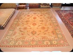 Gray Green Rug Hacienda Persian Mahal Design Chobi Rug Beige Gray Peach