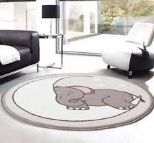 trendy grey kids animal elephant carpet bedroom nursery rug boy