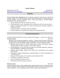 Sample Staff Accountant Resume by Property Accountant Resume Resume For Your Job Application