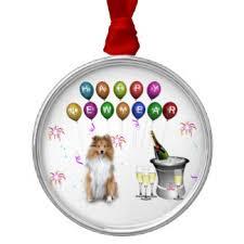 happy sheltie ornaments keepsake ornaments zazzle