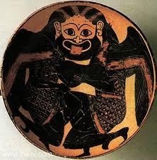 Greek Black Figure Vase Painting Gorgons Ancient Greek Vase Painting