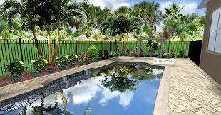 Backyard Pool Landscaping by Tropical Landscaping And Paver Deck For Small Pool Area