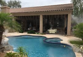 Misters For Patio by Phoenix Residential Misting Systems Home Mister Systems Az