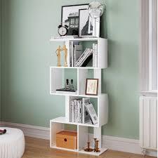 tribesigns simple stylish 8 shelf bookcase shelving display