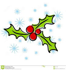 christmas holly clip art stock photo image 3497190