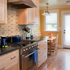 kitchens with oak cabinets and white appliances yellow kitchens