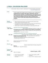 resume exles for registered operating room resume sle registered resume exle