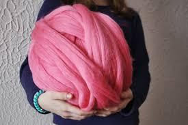 super chunky yarn roving wool merino wool diy arm knitting