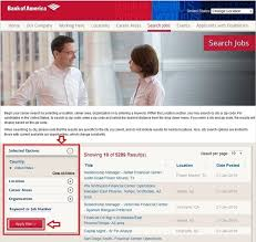 how to apply for bank of america jobs online at bankofamerica com