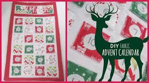 christmas diy fabric advent calendar youtube