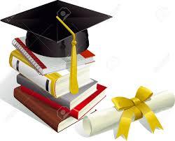 graduation books 9147191 education mortar boards books and diploma stock vector