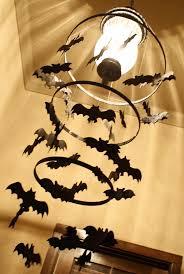Halloween Chandeliers Spooky Bat Chandelier Using Embroidery Hoops And Foam Bats