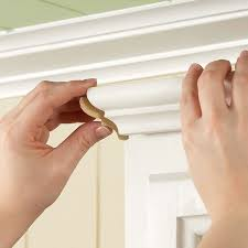 install crown moulding on your cabinet or my bookcase