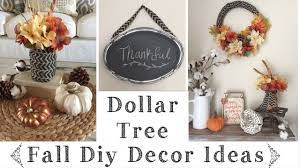 dollar tree diy rustic fall decor ideas youtube
