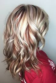 blonde and burgundy hairstyles the 25 best red blonde highlights ideas on pinterest blonde
