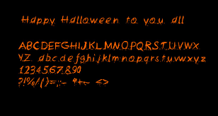 halloween font for you by thefreakypanda on deviantart